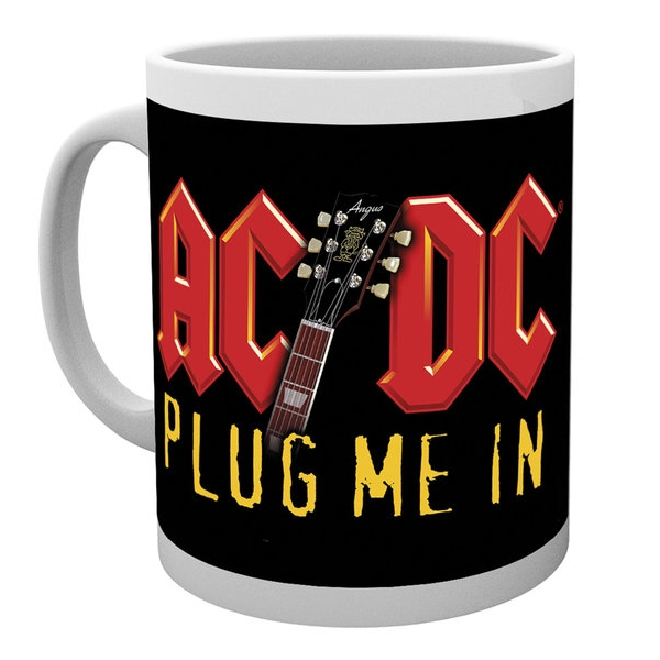 AC/DC  Boxed Mug Plug Me In 10oz Sparkle Gift