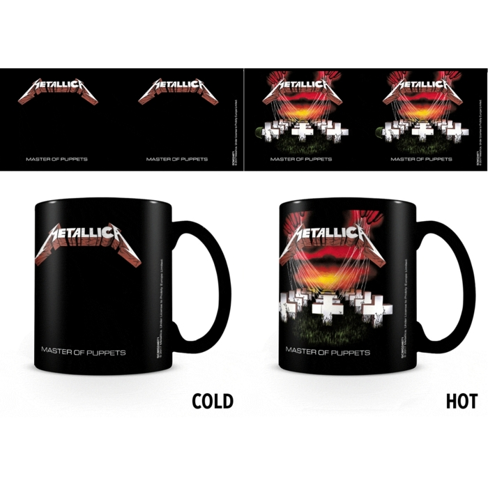 Metallica Heat Change Mug Master of Puppets Sparkle Gift