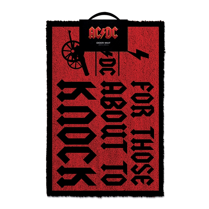 AC/DC  Doormat For Those About To Knock                       Sprakle Gifts