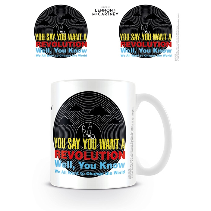 Beatles Boxed Mug Lyrics Revolution                          Sprakle Gifts