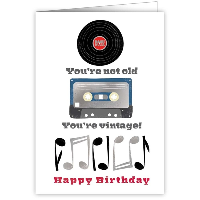 Greetings Card Youre Not Old Youre Vintage Sparkle Gift