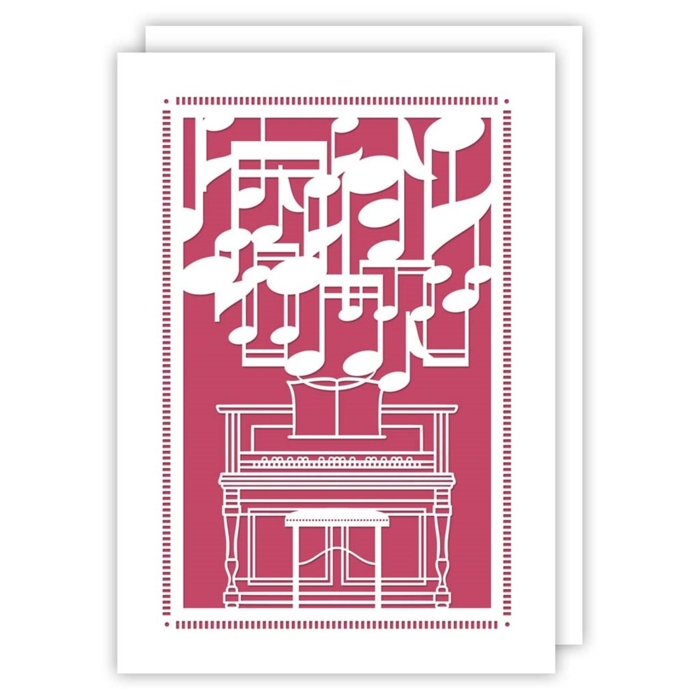 Greetings Card Piano Notes Delicatissimo Sparkle Gift