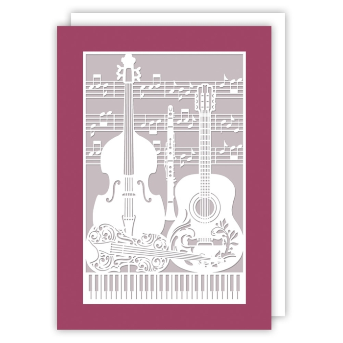 Greetings Card Musical Instruments Delicatissimo Sparkle Gift