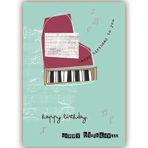 Greetings Card Piano Au Contraire Sparkle Gift