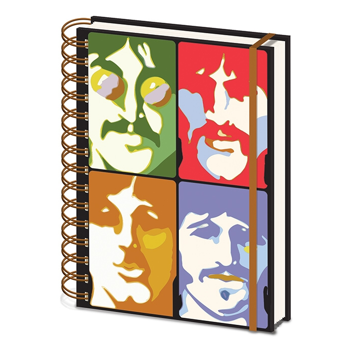 Beatles A5 Notebook Yellow Submarine Faces Sparkle Gift