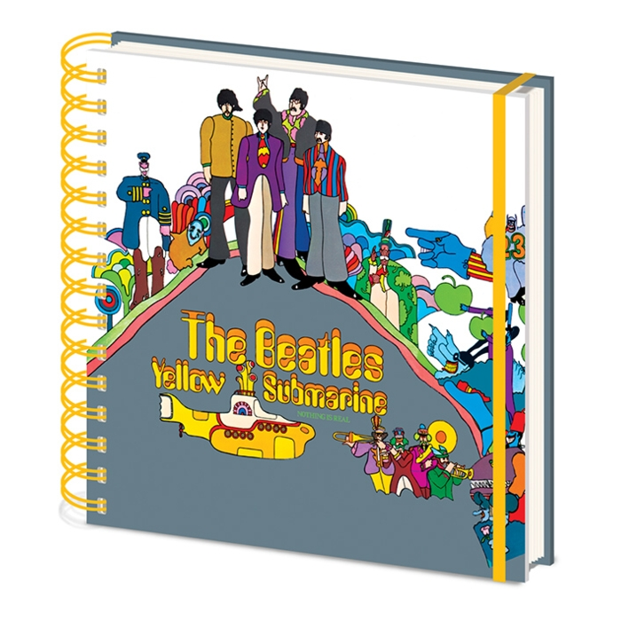 Beatles Square Notebook Yellow Submarine Sparkle Gift