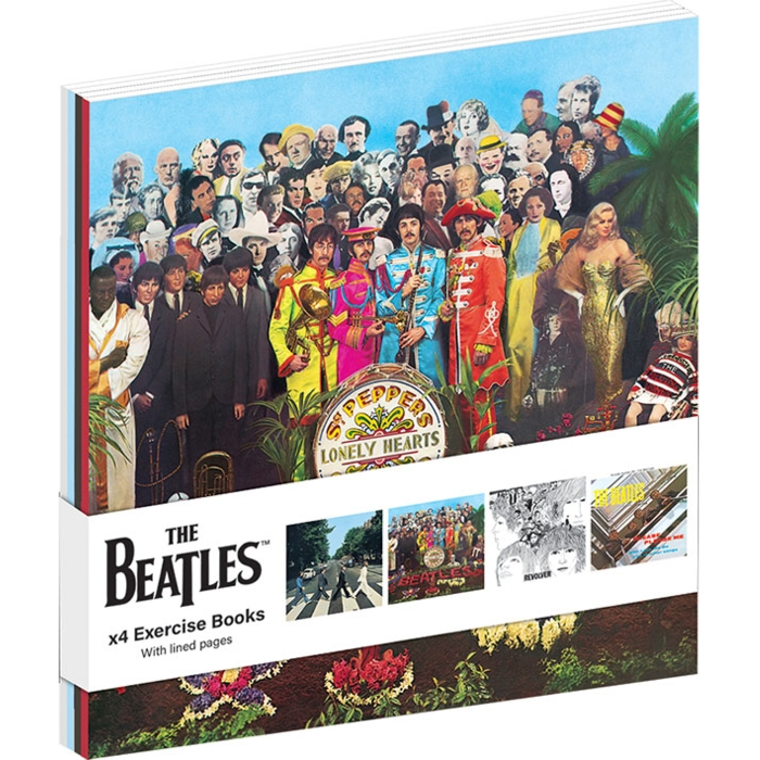 Beatles A6 Exercise Books Albums Set of 4 Sparkle Gift