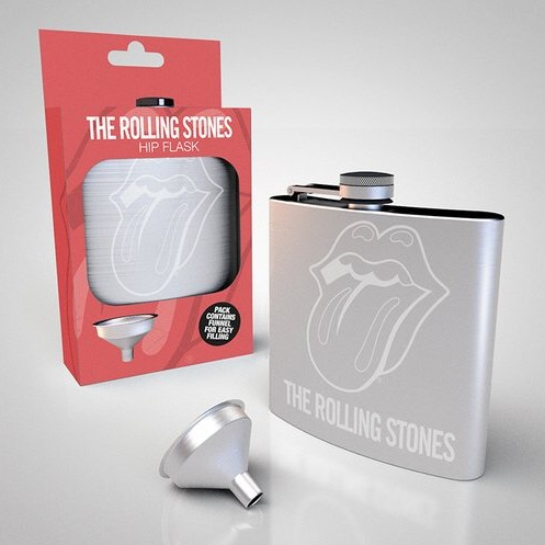Rolling Stones Hip Flask Logo 200ml Sparkle Gift