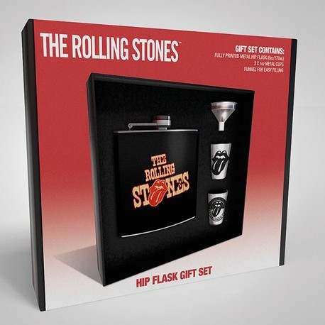 Rolling Stones Hip Flask Gift Set Tongues Sep 18 Sparkle Gift