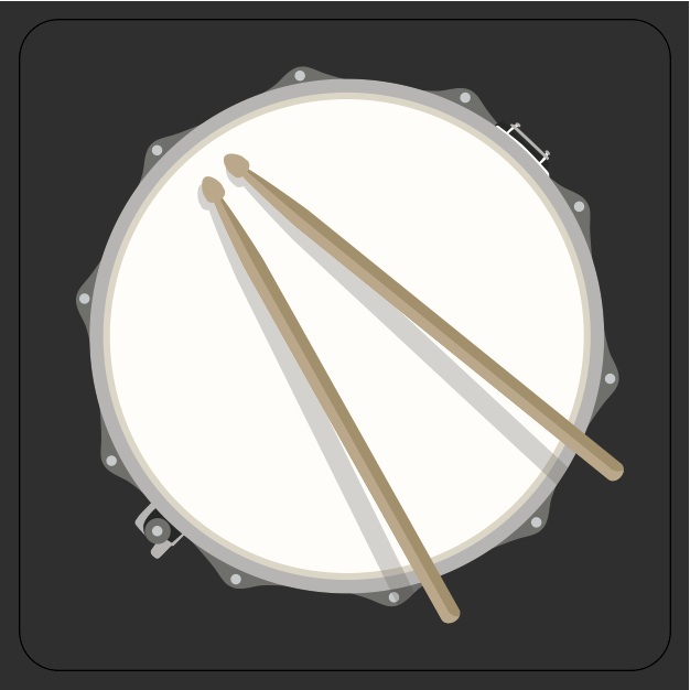 Rock Club Coaster Drum Sparkle Gift