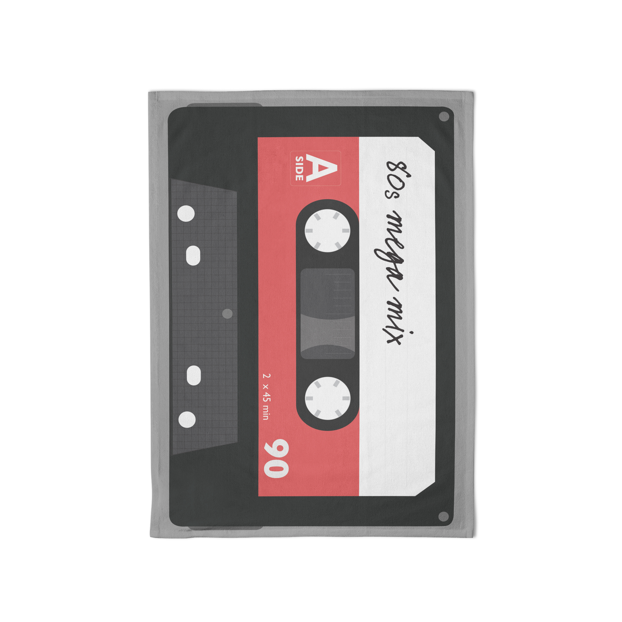 Rock Club Tea Towel Cassette Sparkle Gift