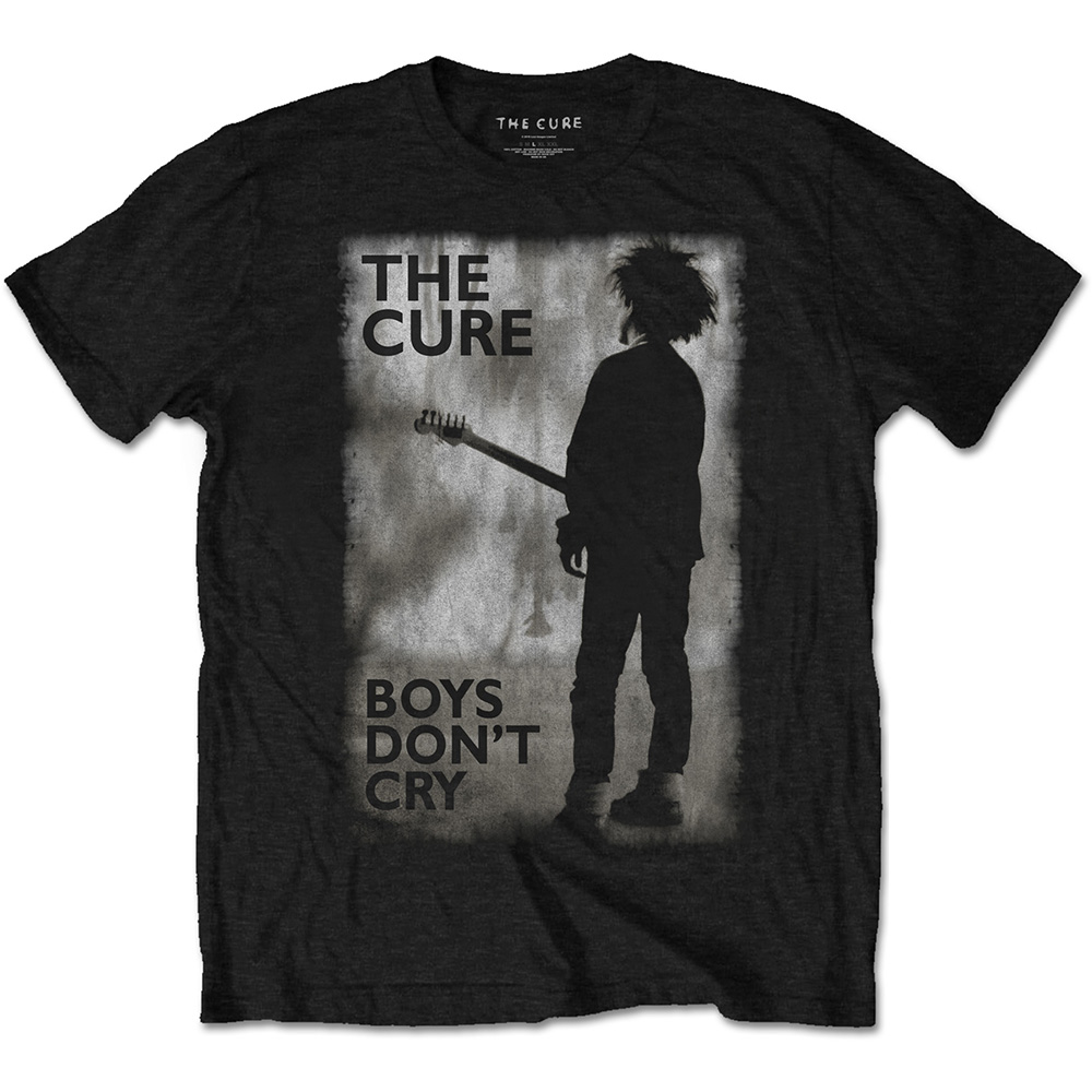 Cure T Shirt Boys Dont Cry Black & White Mens S Sparkle Gift