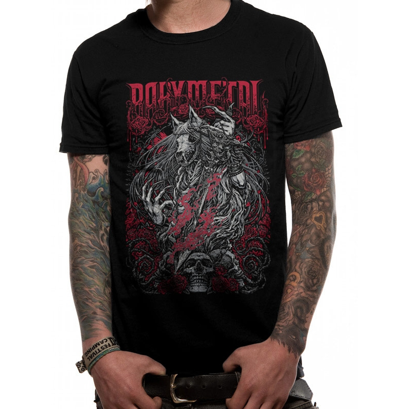 Babymetal T Shirt Black Rosewolf Mens Large Sparkle Gift