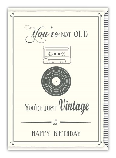 Greetings Card Happy Birthday Vintage Sparkle Gift