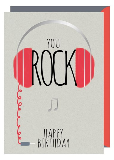 Greetings Card You Rock Sparkle Gift