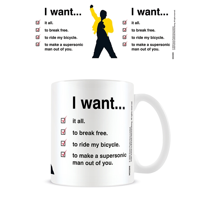Queen Boxed Mug I Want Checklist                             Sprakle Gifts