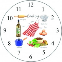 Wall Clock Cooking 30cm Sparkle Gift