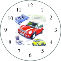 Wall Clock Mini New 30cm Sparkle Gift
