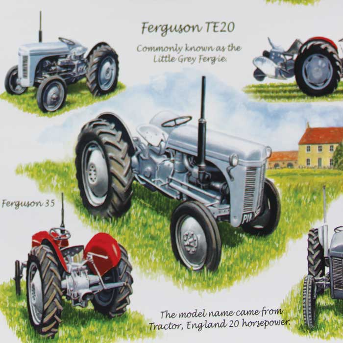 Wrapping Paper Ferguson Te20 Tractor X 12 Sheets             Sparkle Gift