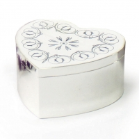 Sophia Heart Silver-plated Trinket Box Sparkle Gift
