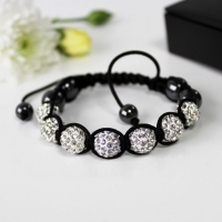 Bracelet Shamballa Crystal Beads Silver Gift Boxed Sparkle Gift