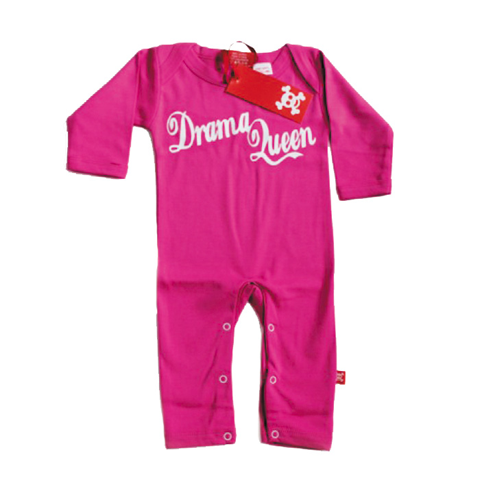 Baby Playsuit Drama Queen Fuchsia 0-6 Months Sparkle Gift