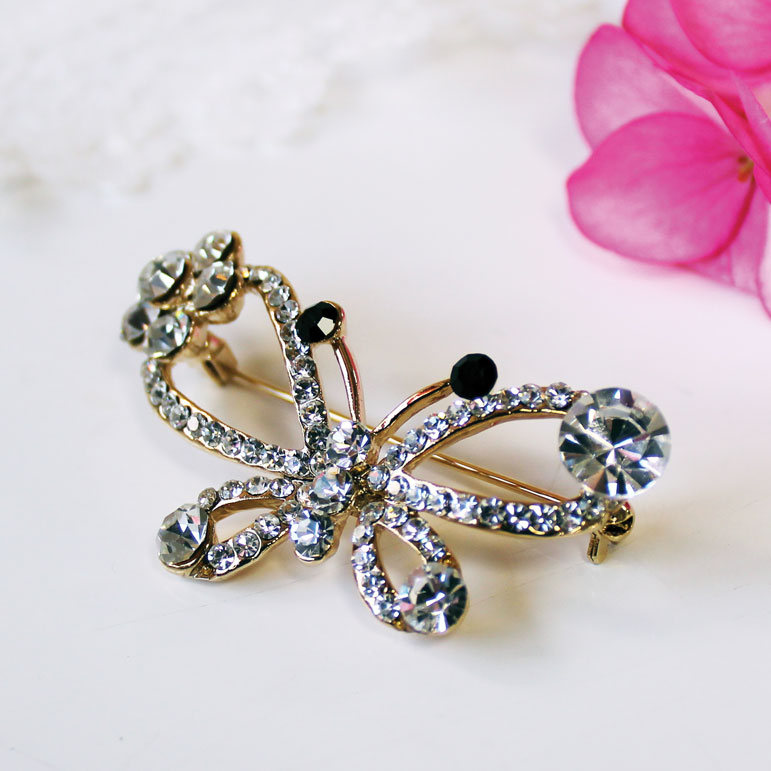 Vintage Butterfly Brooch Sparkle Gift
