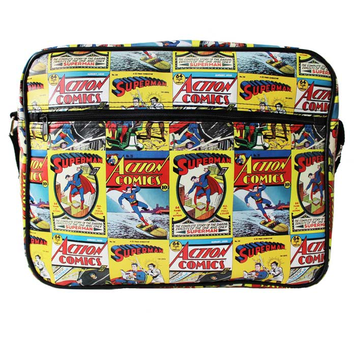 Superman Messenger Bag Comic Book Covers Sparkle Gift