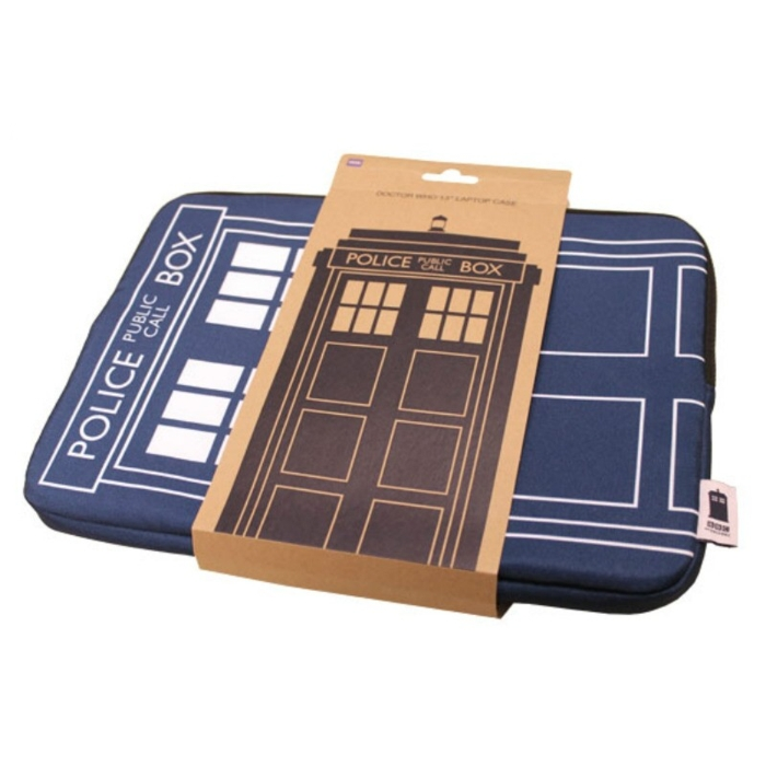 Doctor Who Laptop Case Tardis 13-inch Blue Sparkle Gift