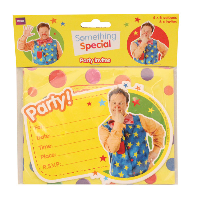 Something Special Partyware 6 Invites + Envelopes Sparkle Gift