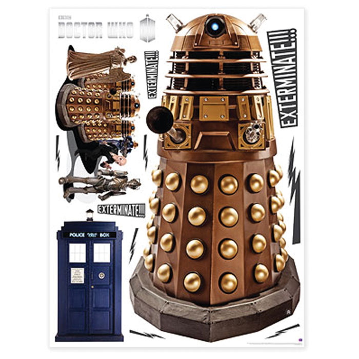 Doctor Who Wall Stickers Dalek Sparkle Gift