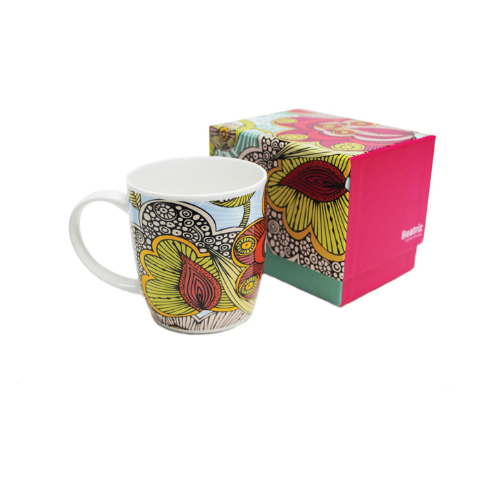 Bone China Boxed Mug Valentina Beatriz Sparkle Gift