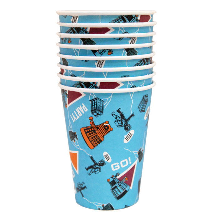 Doctor Who Cups In CDu (12 X 8 Cups) Sparkle Gift