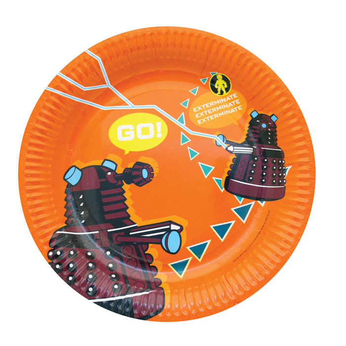 Doctor Who Plates In CDu (12 X 6 Plates) Sparkle Gift