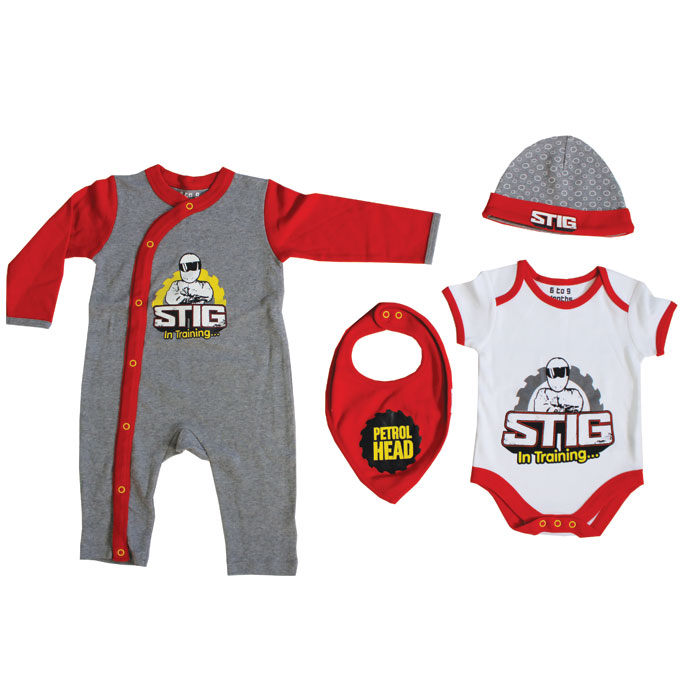 Top Gear Baby 4 Piece Starter Set Newborn Sparkle Gift