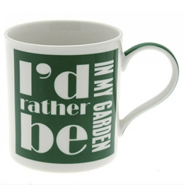 Id Rather Be In My Garden Mug Sparkle Gift