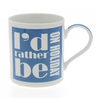 Id Rather Be On Holiday Mug Sparkle Gift