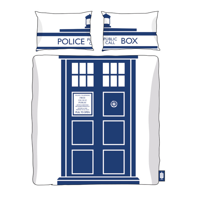 Doctor Who Duvet Set Tardis King Size Sparkle Gift
