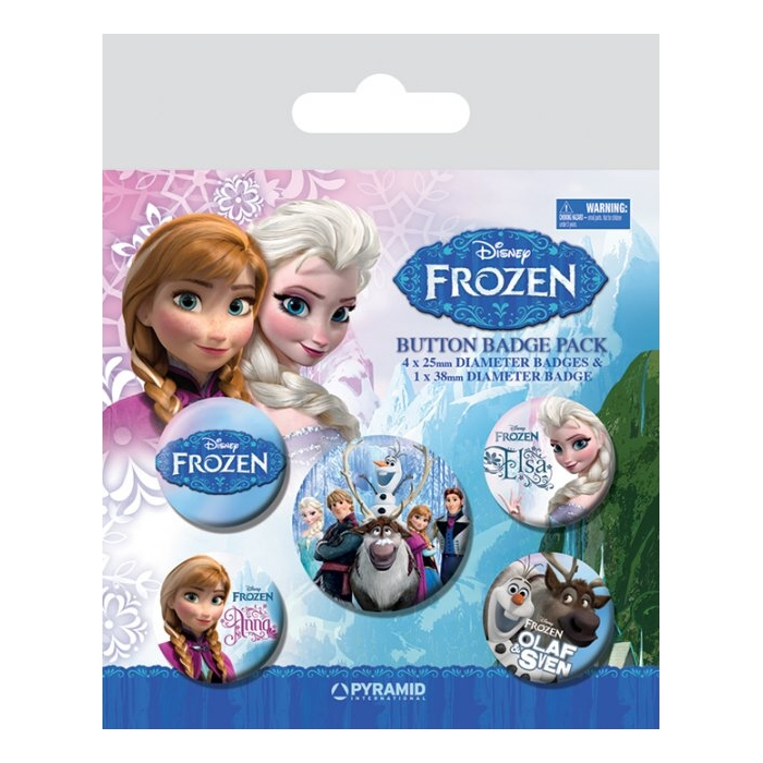 Frozen Badge Pack Set of 5 Sparkle Gift