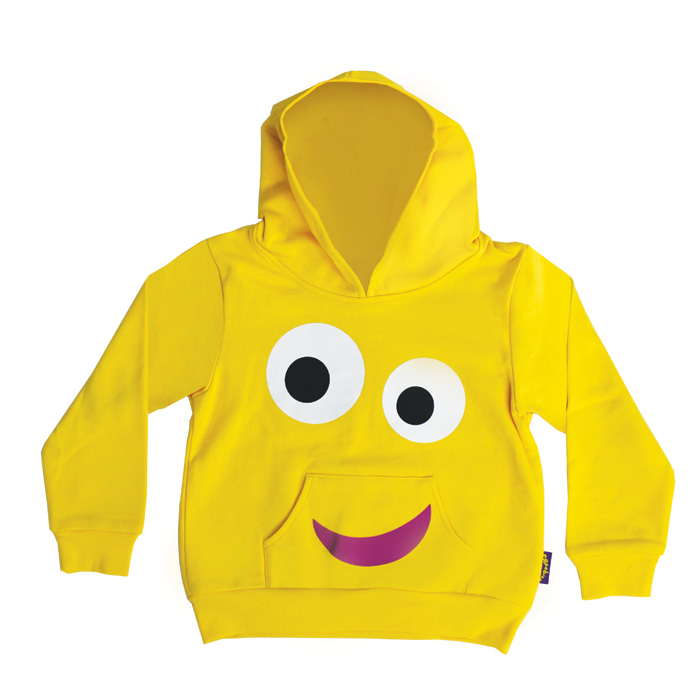 Cbeebies Face Yellow Hoodie 2-3yr Sparkle Gift