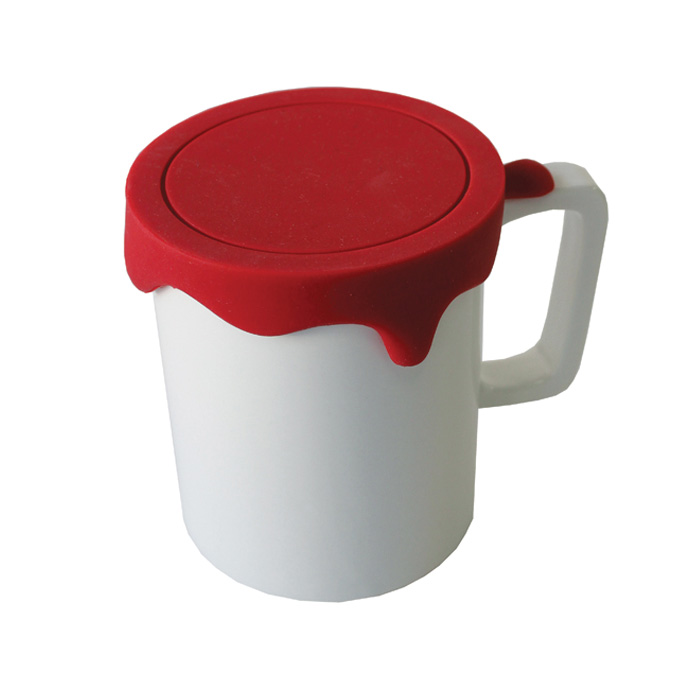 Paint Mug Tall Red Sparkle Gift