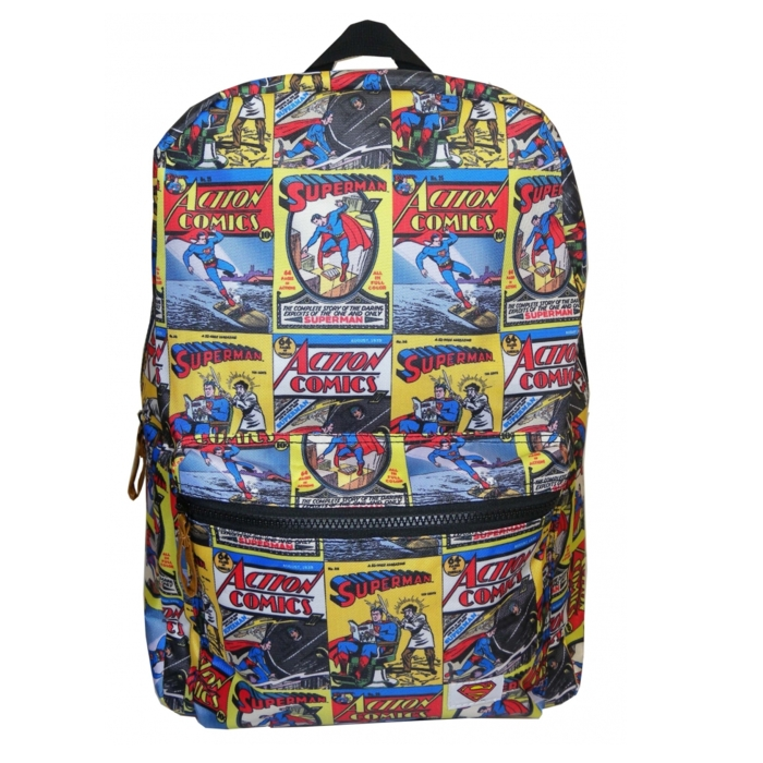 Superman Backpack Comic Book Covers Sparkle Gift