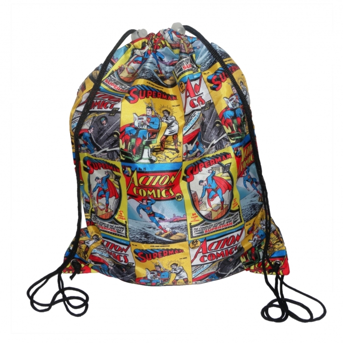 Superman Pump Bag Comic Book Covers Sparkle Gift