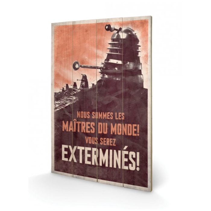 Doctor Who Wooden Wall Art Extermines Sparkle Gift