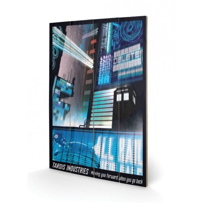 Doctor Who Wooden Wall Art Tardis Industries                 Sparkle Gift