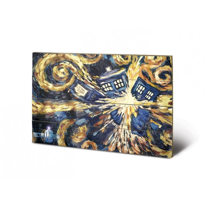 Doctor Who Wooden Wall Art Exploding Tardis                  Sparkle Gift