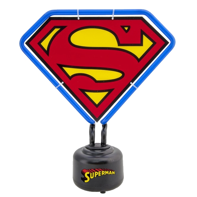 Superman Mini Neon Light Shield Sparkle Gift