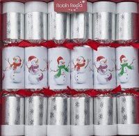 Christmas Crackers Racing Snowman (6) 33cm Sparkle Gift