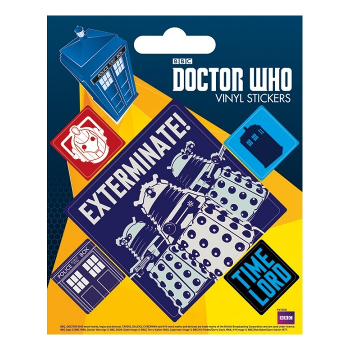 Doctor Who Stickers Exterminate Sparkle Gift