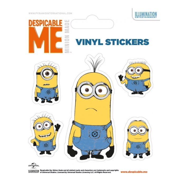 Minions Stickers Illustrated Minion Sparkle Gift
